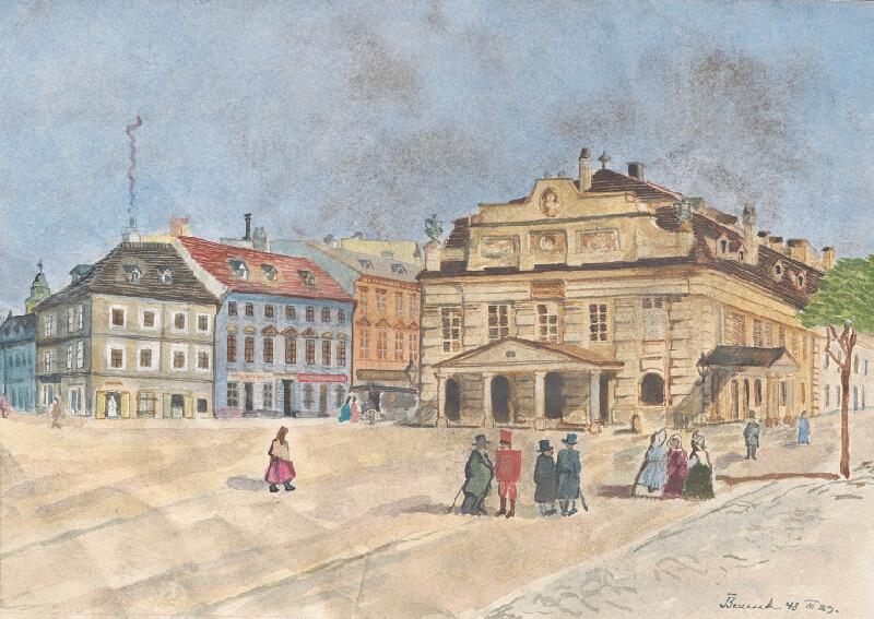 Viktor Benesch - Divadelné námestie (dnes Hviezdoslavovo námestie) v Bratislave