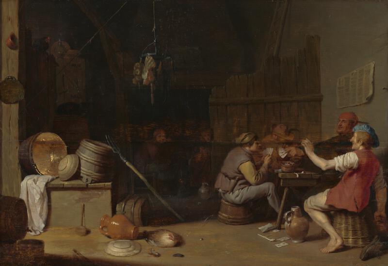 Holandský Rotterdamský maliar z polovice 17. storočia, Hendrik Martensz Sorgh - Kartári