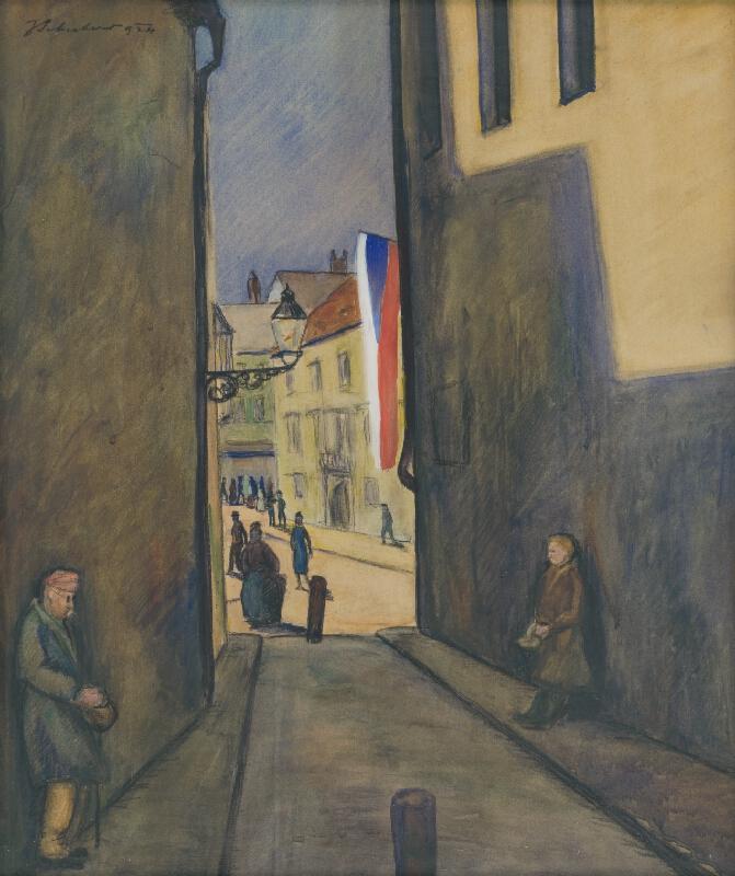 Július Schubert - Kostolná ulica v Bratislave