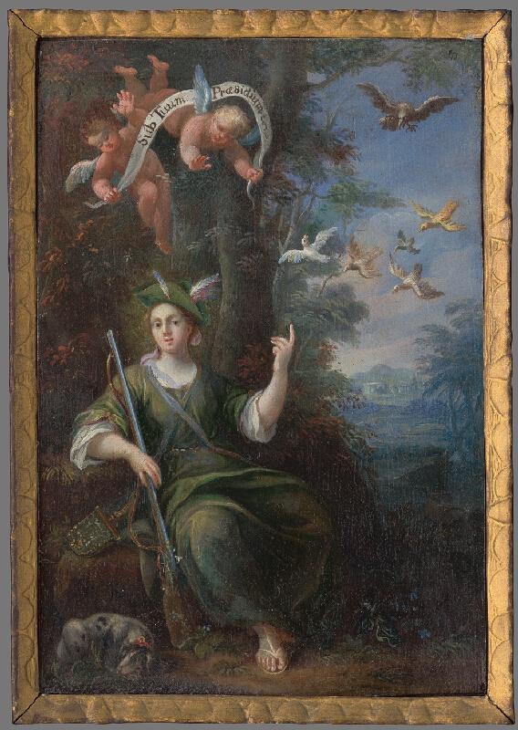Stredoeurópsky maliar z 2. polovice 18. storočia - Panna Mária ako ochrankyňa (poľovníčka)