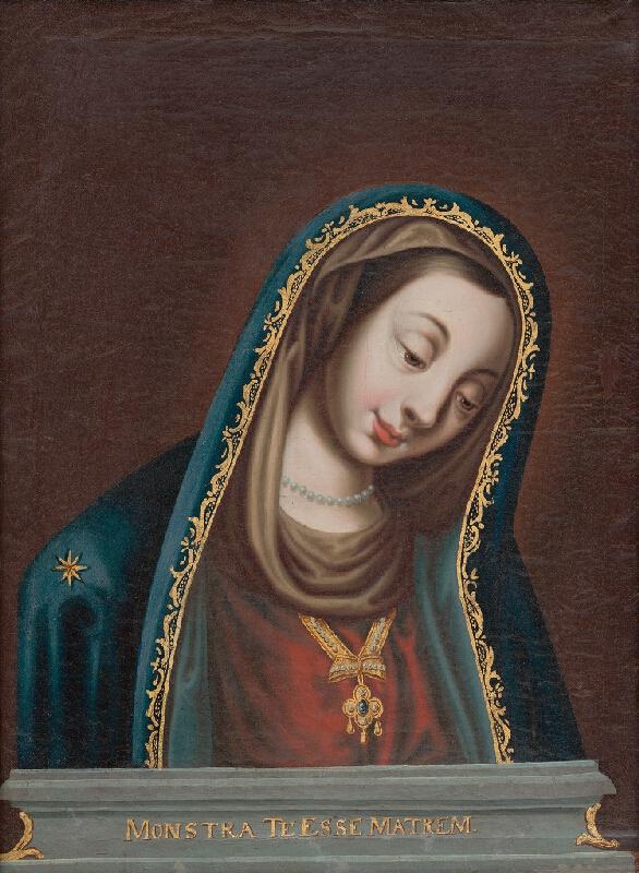 Nemecký maliar - Kópia obrazu Panny Márie so sklonenou hlavou z Landshutu