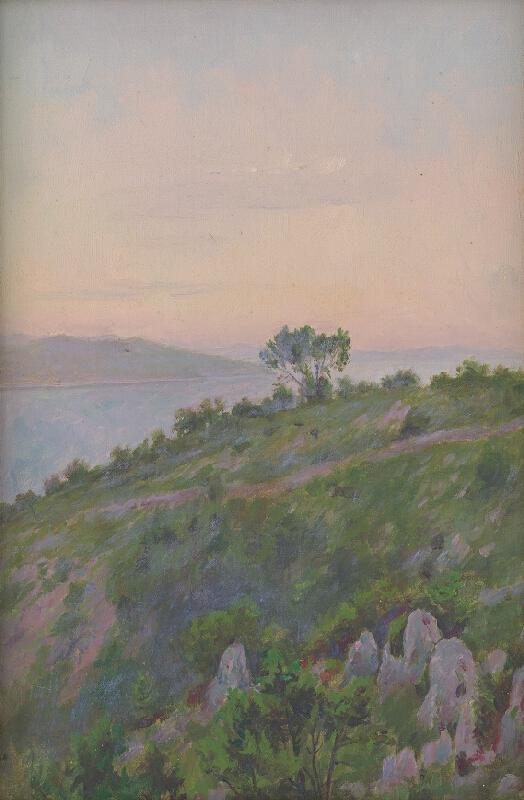 Dezider Czölder - Skalný breh so stromami