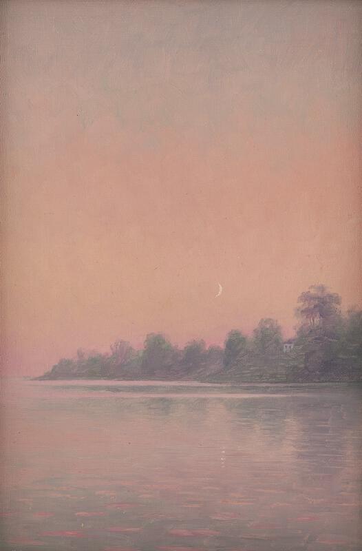 Dezider Czölder - Ružové pobrežie s mesiacom