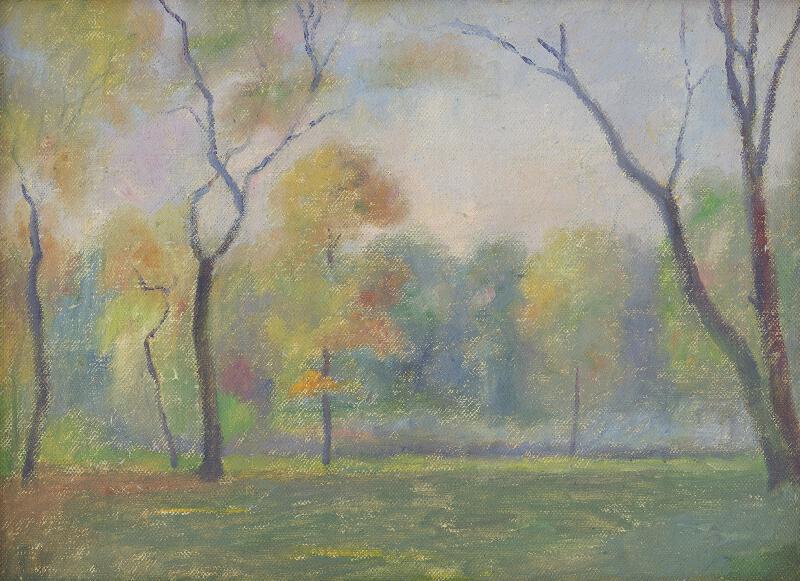 Dezider Czölder - Štúdia jesenného parku