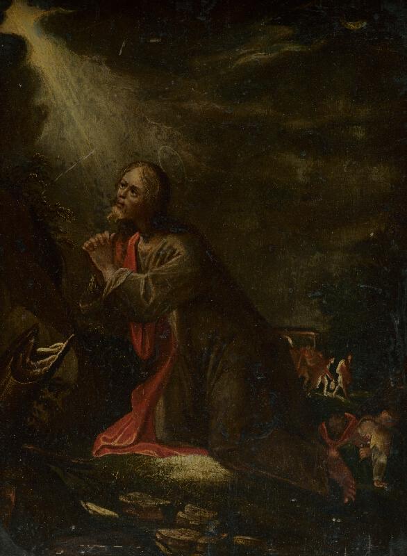 Nemecký maliar zo 17. storočia - Kristus na Olivovej hore