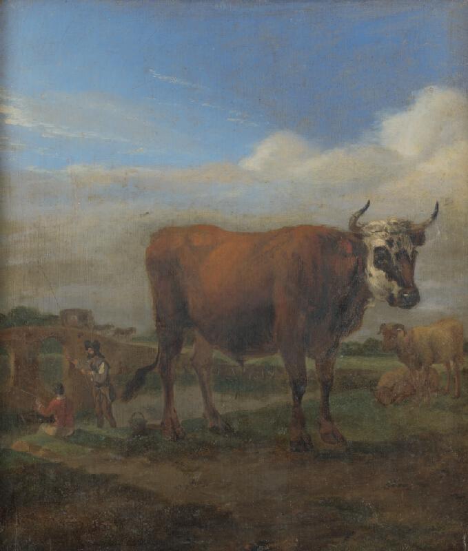 Paulus Potter - Býk v krajine s rybármi