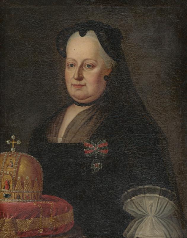 Stredoeurópsky maliar zo začiatku 2. polovice 18. storočia - Portrét Mária Terézie ako vdovy