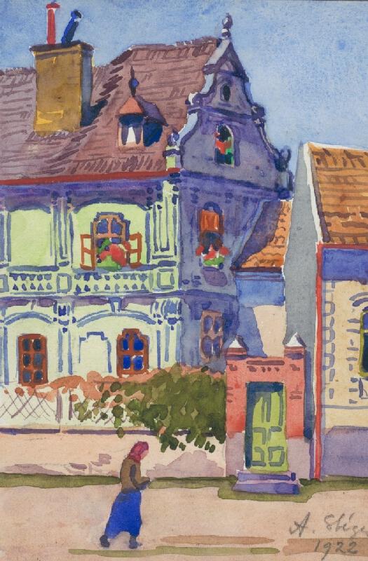 Anton Stéger - Pohľad na renesančný dom
