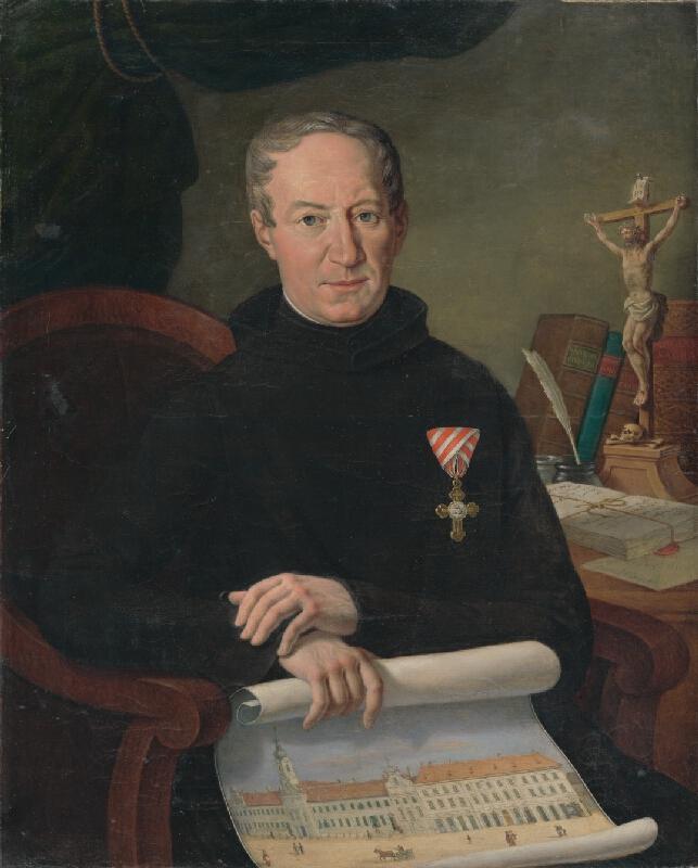 Johann Nepomuk Höfel - Portrét Sidoniusa Szakovitsa, priora rehole Milosrdných bratov v Bratislave