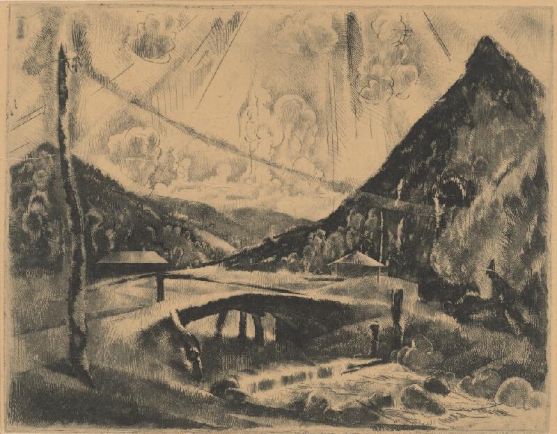 Vilmos Aba-Novák - Krajina s mostom