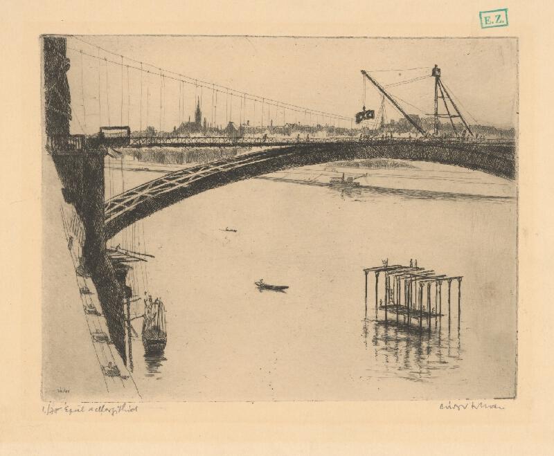 István Zádor - Stavba Margitinho mostu v Budapešti