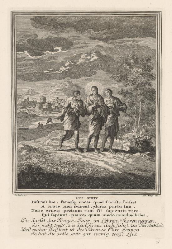 Jan Inxyken, Christoph Weigel st. - Kristus v Emauzách
