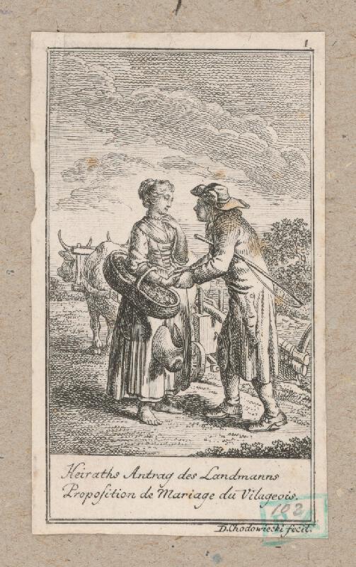 Daniel Nikolaus Chodowiecki - Ponuka k sňatku krajana