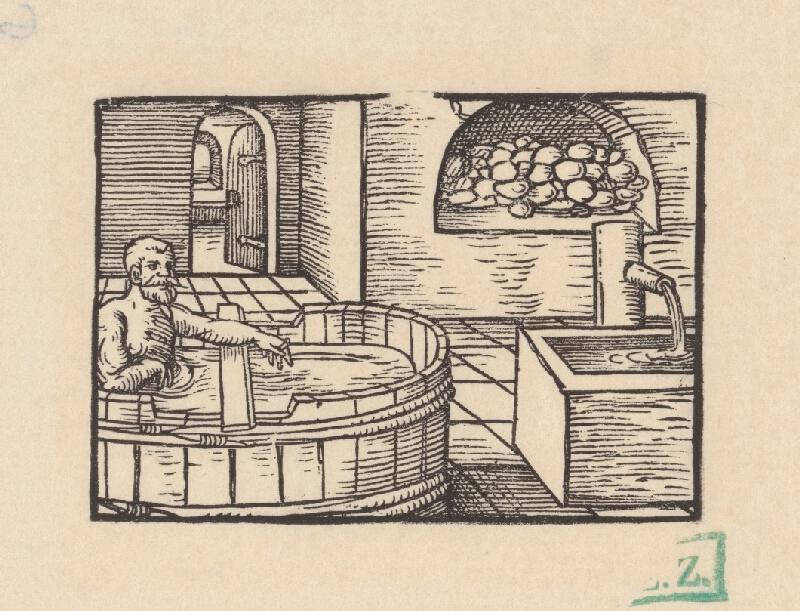 Grafik z okolia tlačiarne Nicolausa Knorra - Kúpeľ