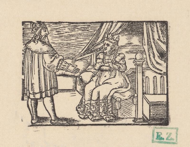 Kopisti, Hans  Brosamer - Rozhovor cisára a kráľovnej v spálni