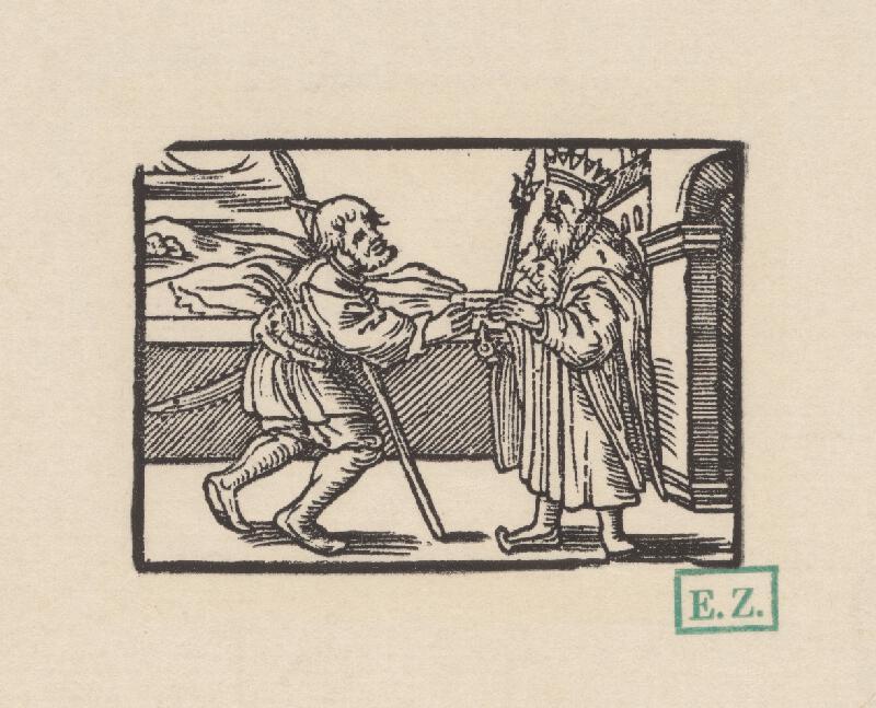 Kopisti, Hans Brosamer - Posol odovzdáva kráľovi list s pečaťou
