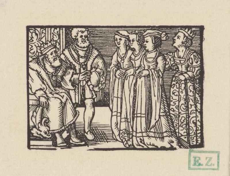 Kopisti, Hans Brosamer - Fortunatus si vyberá nevestu z troch grófskych dcér