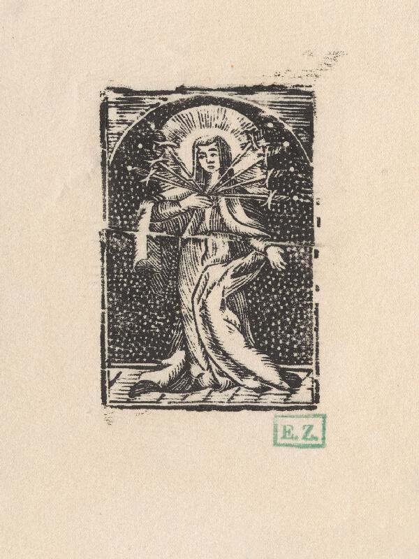 Provinční grafici obľubujúci bodkované pozadie - Sedembolestná Panna Mária
