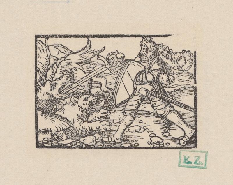 Kopisti, Hans Brosamer - Bruncvík pomáha levovi zabiť draka