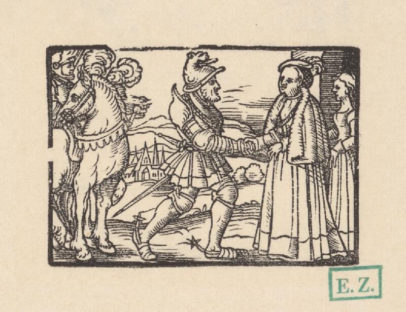 Kopisti, Hans Brosamer - Stretnutie rytiera Petra a krásnej Magelóny