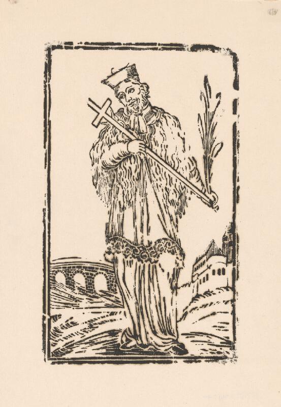 Slovenský grafik z 1. polovice 19. storočia - Svätý Ján Nepomucký