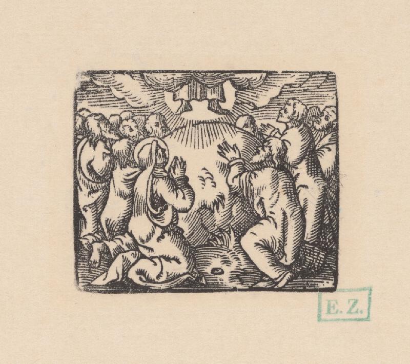Kopista, Hans Leonhard Schäufelein, Monogramista IS s lopatkou - Nanebovstúpenie