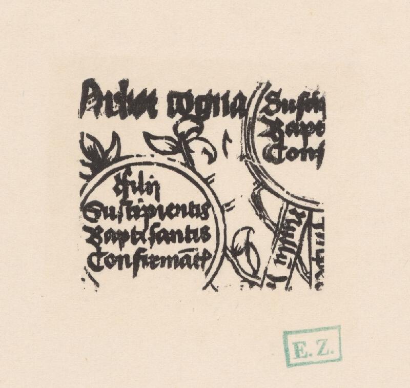 Stredoeurópsky grafik zo 16. storočia - Fragment ilustrácie Arbor cognations spiritualis O. LI/4