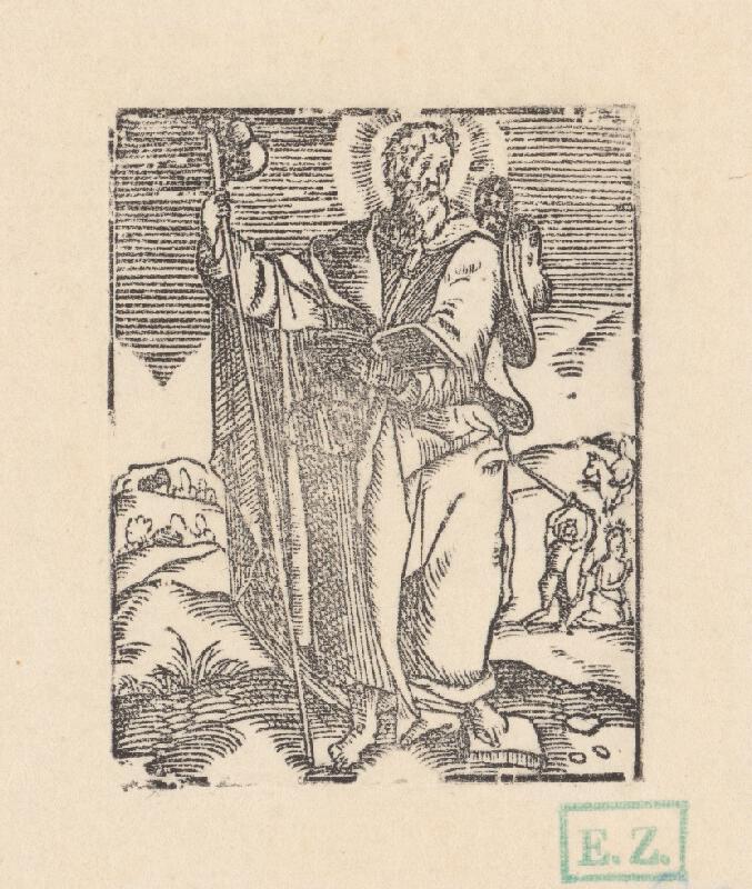 Kopista, Hendrick Goltzius - Svätý Jakub Starší apoštol