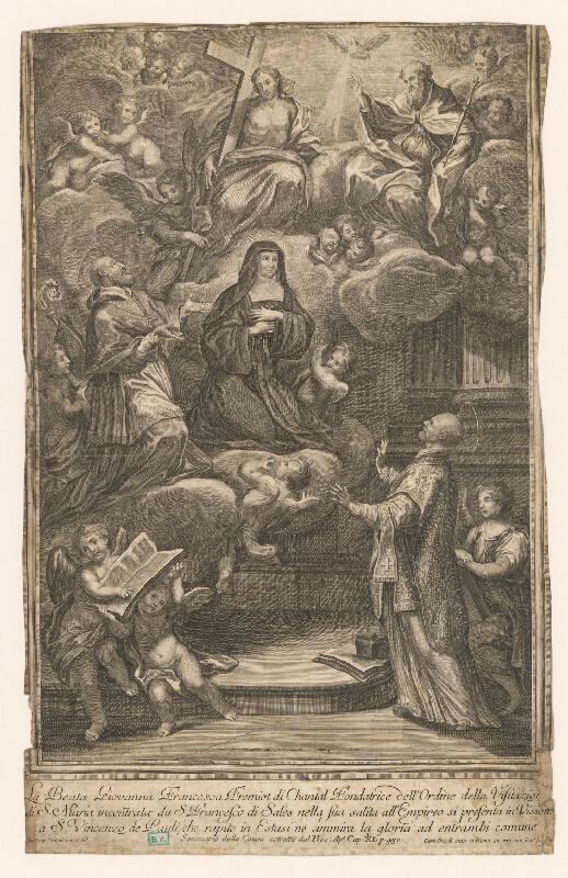 Carlo Grandi, Gaetano Sortino - Adorácia Františkovi Salezskému blahoslavenou Giovannou Francescou, zakladateľkou rádu Navštívenia Panny Márie