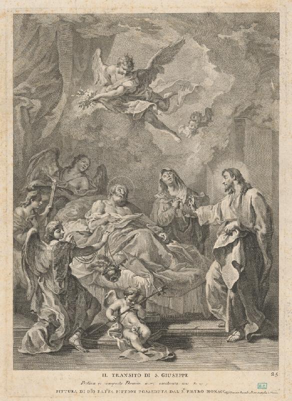 Alessadri e Innocento, Pietro Scattaglia, Giovanni Battista Pittoni - Smrť Svätého Jozefa