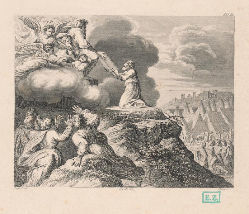 Karel Rybička, Raffael, Wilhelm Kandler - Mojžiš dostáva dosky s prikázaniami od Boha na hore Tábor