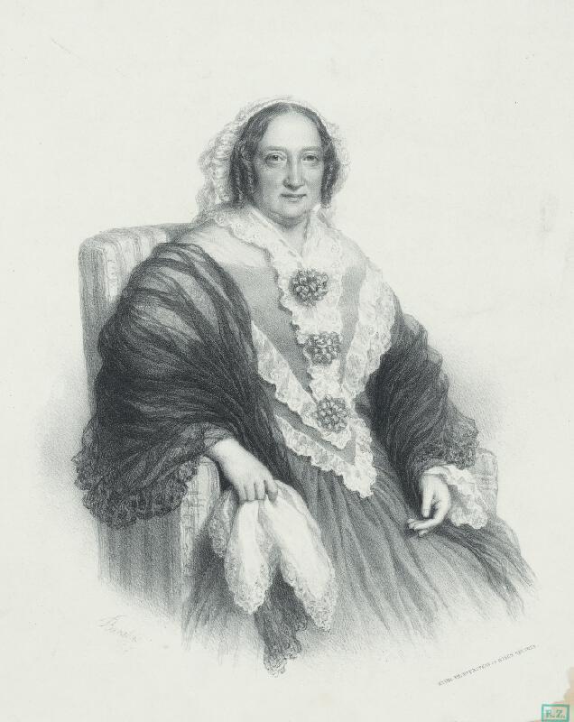 Miklós Barabás - Portrét staršej dámy