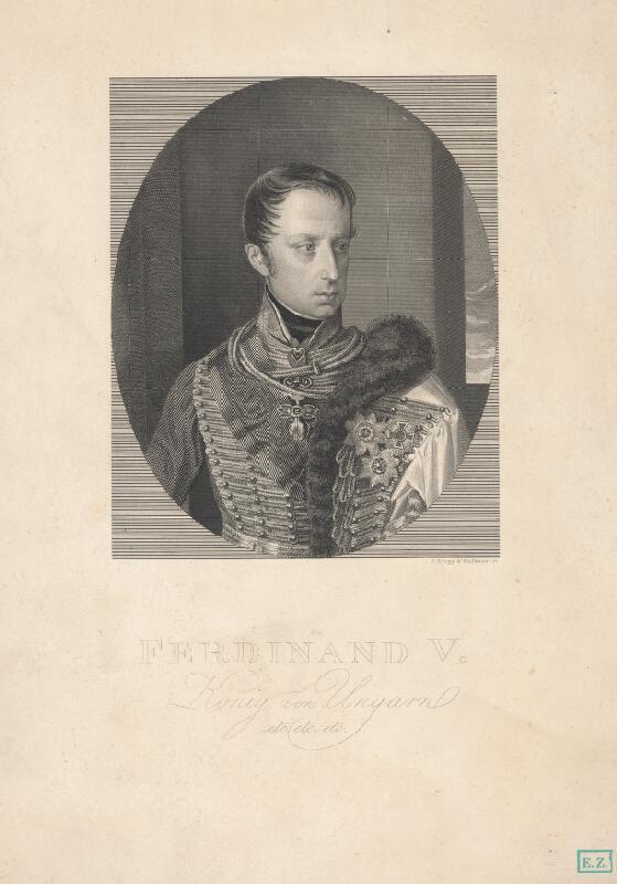 Ferdinand Hofbauer, Ignaz  Krepp - Portrét kráľa Ferdinanda