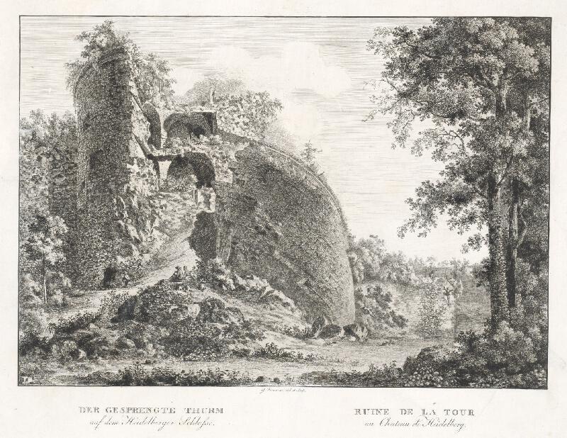 Georg Primavesi - Ruiny veže pri Heidelberskom zámku