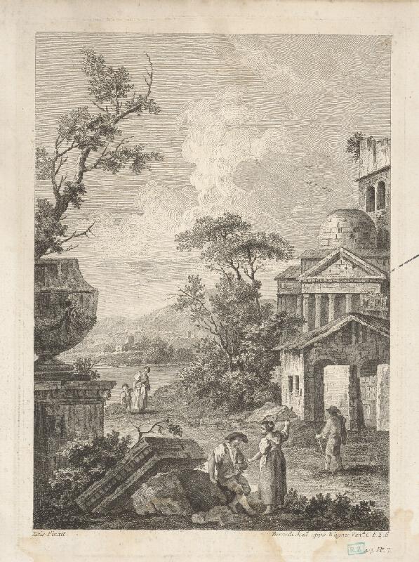 Giuseppe Berardi, Giuseppe Zais - Talianska krajina s ruinami a chrámom