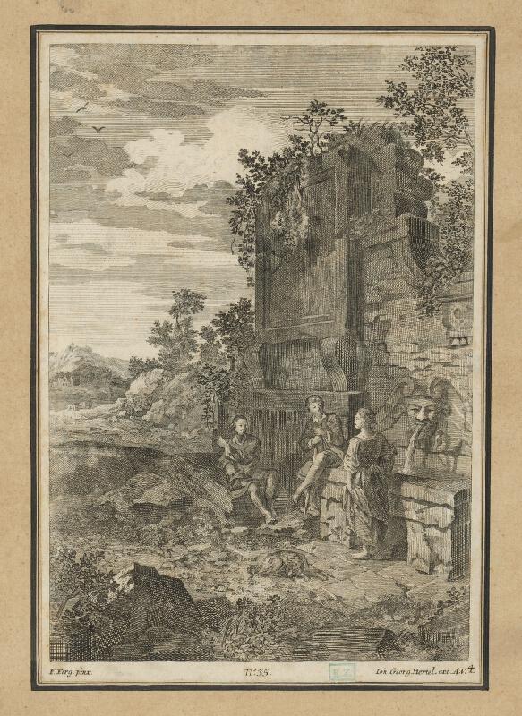 Johann Georg Hertel st., Franz de Paula Ferg - Pri prameni