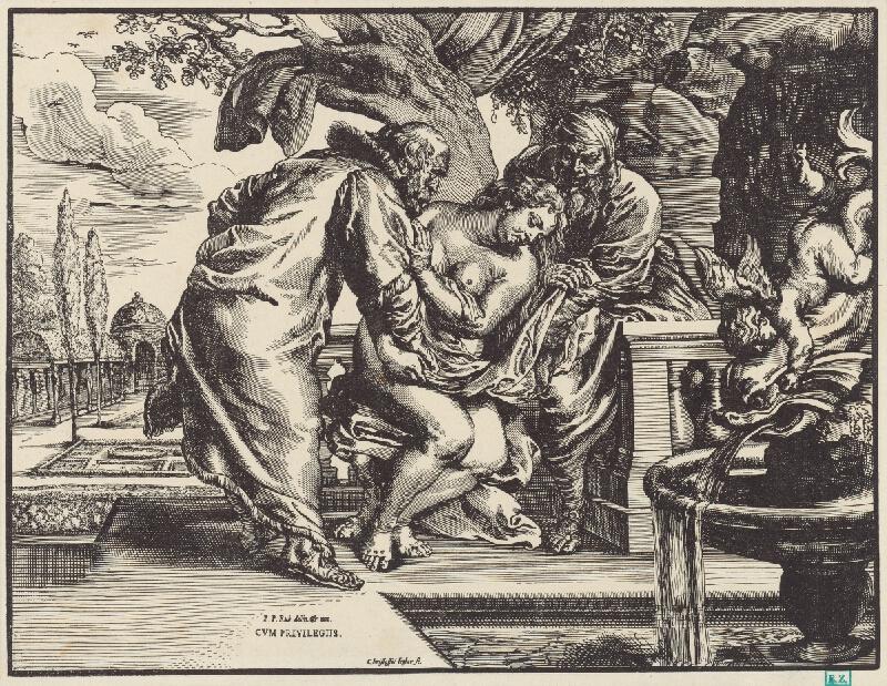 Christoffel Jegher, Peter Paul Rubens - Zuzana a starci