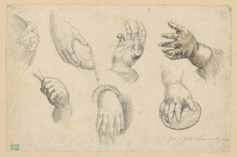 Gabriel Klimkovič - Štúdie rúk
