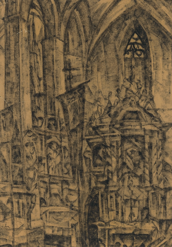 Vilmos Perlrott-Csaba - Interiér chrámu