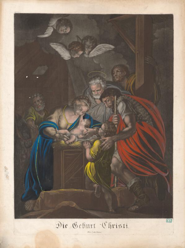 Rakúsky rytec z 18. storočia - Narodenie Krista