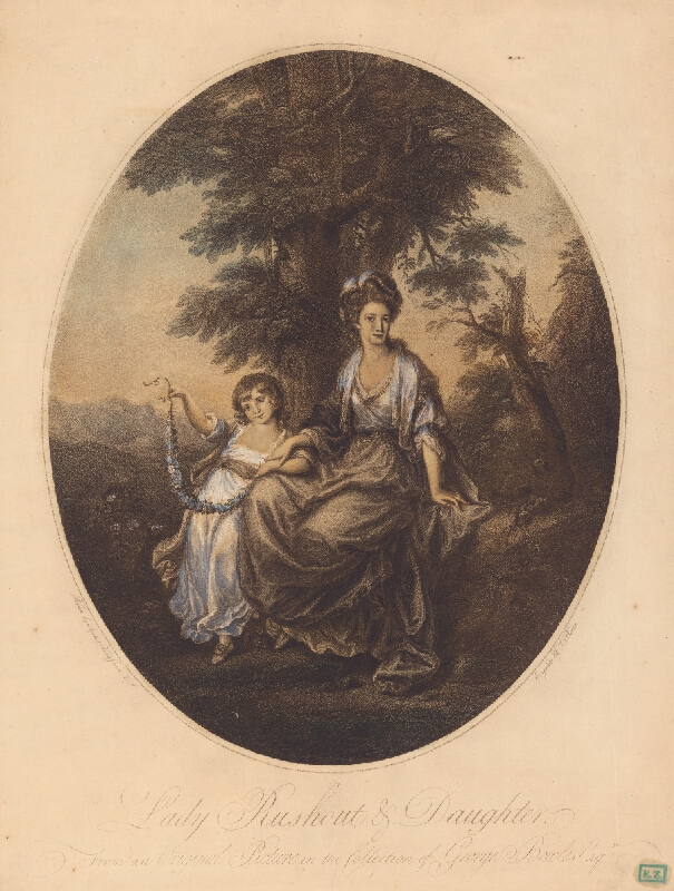 J. Burke, Angelica Kauffmann, Thomas Burke - Lady Rushout s dcérou
