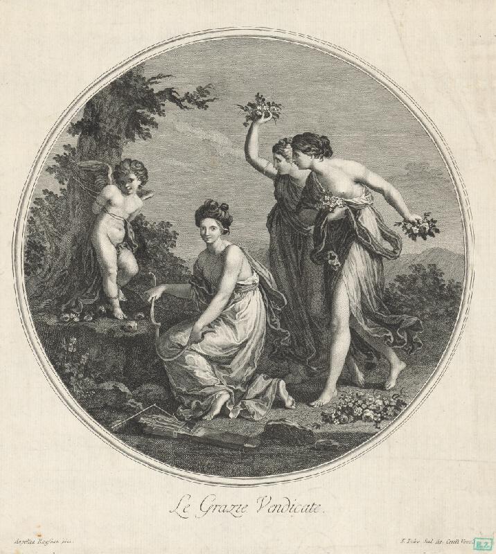 Francesco del Pedro, Angelica Kauffmann - Amorček a tri grácie