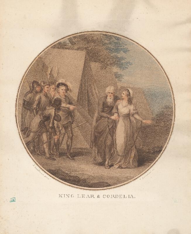 Francesco Bartolozzi, Angelica Kauffmann - Kráľ Lear a Cordelia