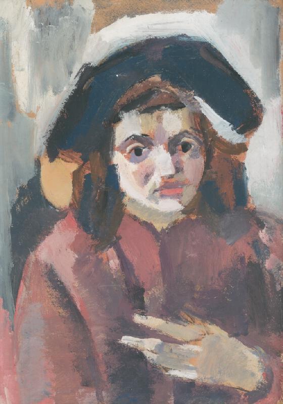 Ernest Zmeták - Portrét kolegyne Greinerovej