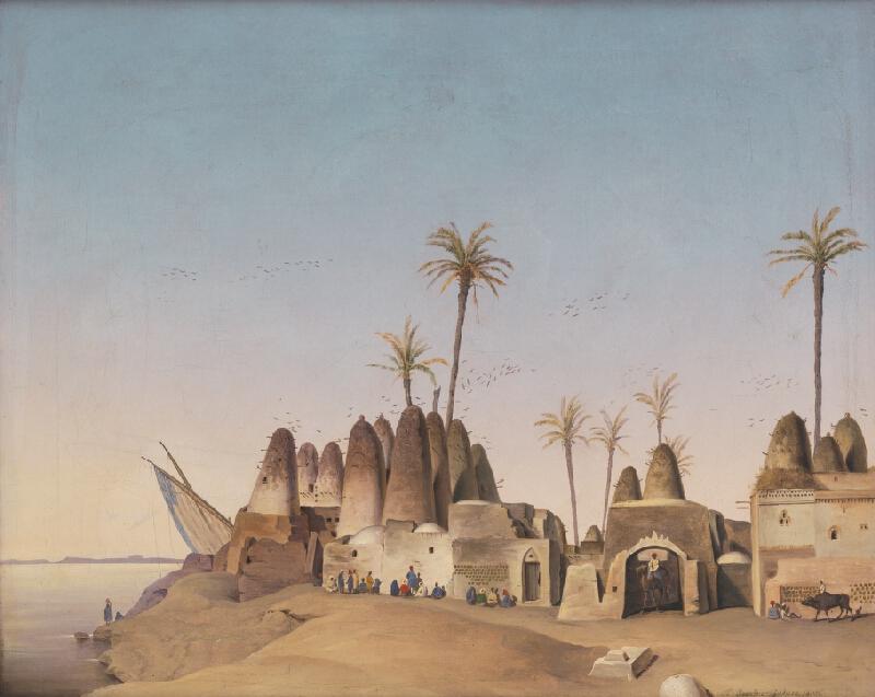 Francúzsky maliar z 19. storočia - Krajina El Gesair