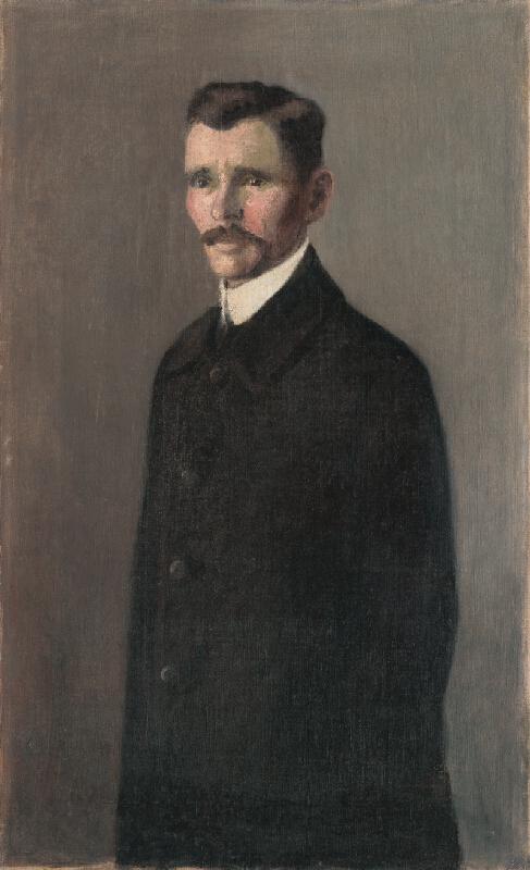 Konštantín Kövári-Kačmarik - Portrét muža v čiernom