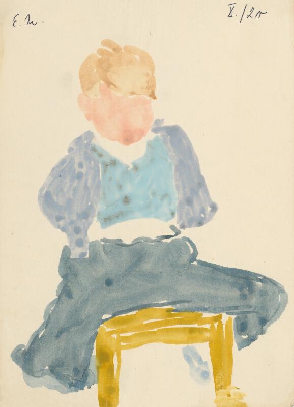Emil Makovický - Chlapec na stoličke