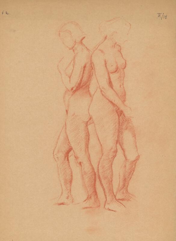 Emil Makovický - Dva ženské akty chrbtom k sebe