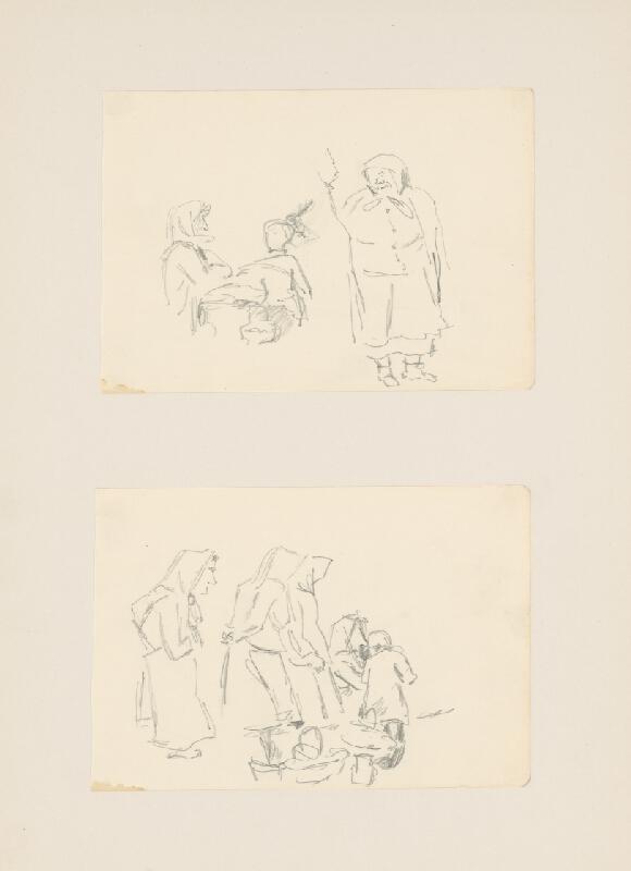 Emil Makovický - Dva náčrty figurálnej kompozície