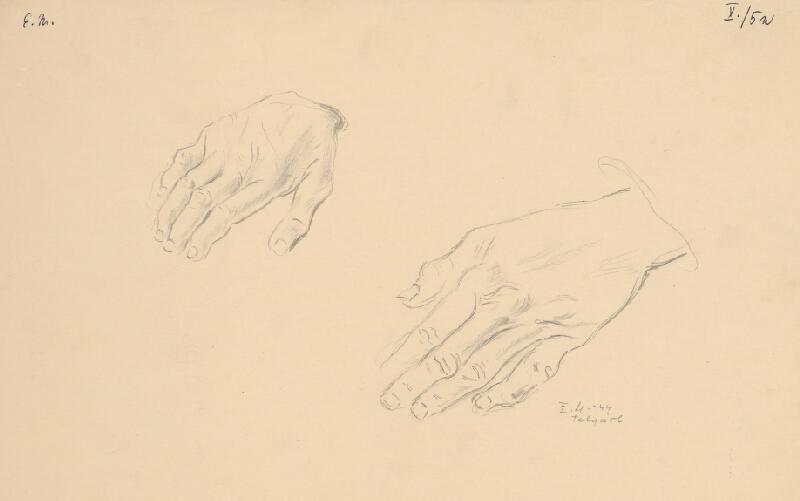 Emil Makovický - Štúdia rúk